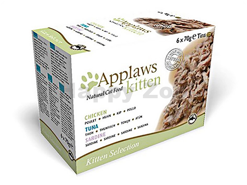 Multipack konzerva APPLAWS Cat Kitten 6x70g