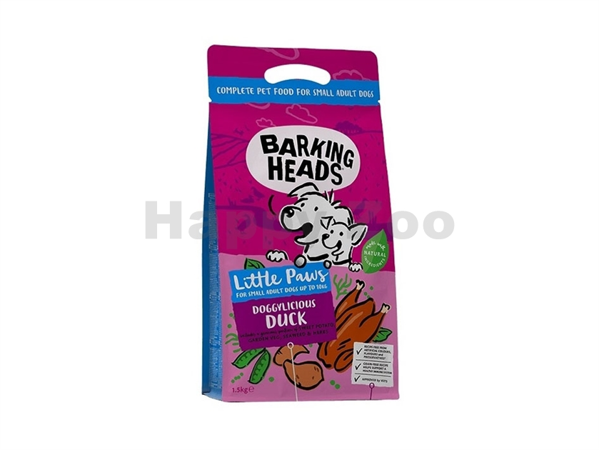 BARKING HEADS Tiny Paw´s Quackers Grain Free 1,5kg