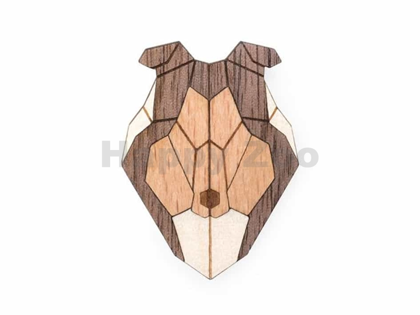BEWOODEN Collie Brooch