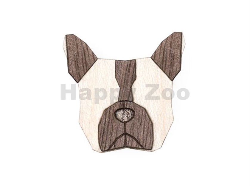 BEWOODEN French Bulldog Brooch