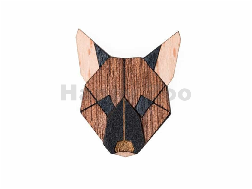 BEWOODEN German Shepherd Brooch