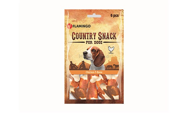 FLAMINGO Country Snack T-Bone Chicken 120g (6ks) (DOPRODEJ)