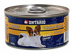 Konzerva ONTARIO Dog Adult Chicken Pieces & Nugget 200g (DOPRODEJ)