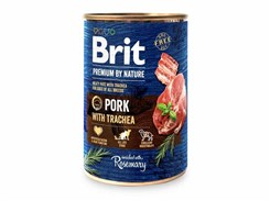 Konzerva BRIT Premium by Nature Pork & Trachea 400g
