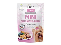 Kapsička BRIT CARE Dog Mini Chicken & Tuna Fillets in Gravy 85g