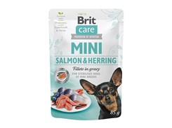 Kapsička BRIT CARE Dog Mini Sterilized Salmon & Herring  in Gravy 85g