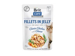 Kapsička BRIT CARE Cat Fillets in Jelly Choice Chicken with Cheese 85g