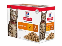 Kapsička HILLS Feline Adult Chicken+Turkey 12x85g (multipack)