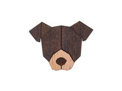BEWOODEN American Pit Bull Terrier Brooch