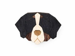 BEWOODEN Bernese Mountain Dog Brooch
