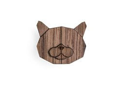 BEWOODEN British Cat Brooch
