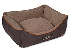 Pelech SCRUFFS Thermal Box Bed hnědý (L) 75x60cm