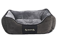 Pelech SCRUFFS Chester Box Bed šedý (S) 50x40cm